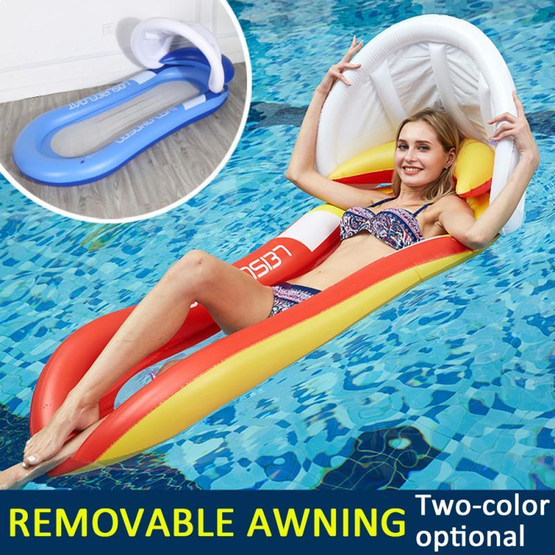 1 шт Поплавковый надувной матрас для плавания, плавательный матрас складной надувной гамак, плавательные матрасы поплавок плавающее кольцо...