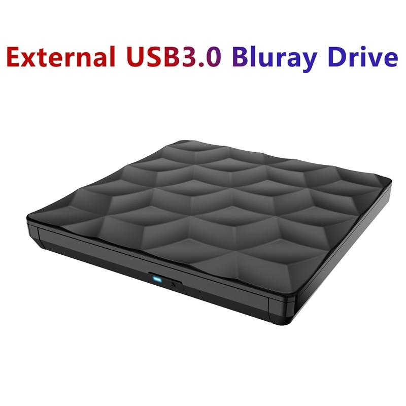 Bluray-محرك أقراص CD خارجي usb 3.0 ، ناسخ DVD ، 3D Type-C BD ، مشغل DVD ، لأجهزة الكمبيوتر المحمول ، سطح المكتب ، Mac OS ، Windows XP 7 ، 8 ، 10