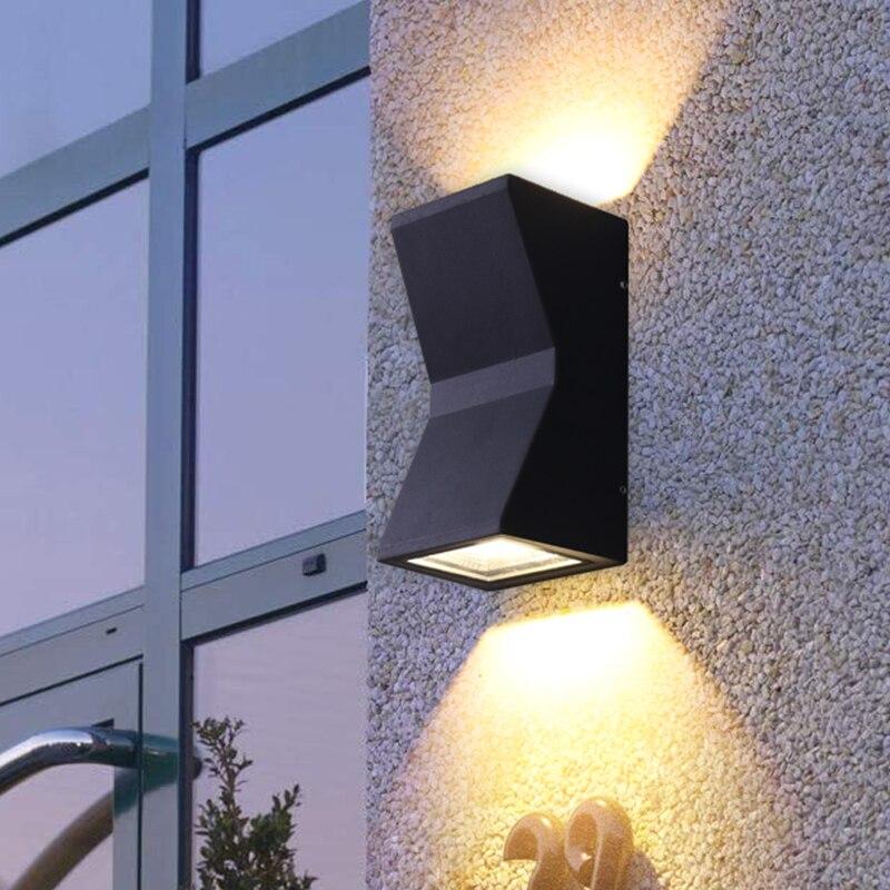 Современный водонепроницаемый настенный светильник, наружный светильник, настенный светильник, Настенный бра, светодиодный светильник, на...