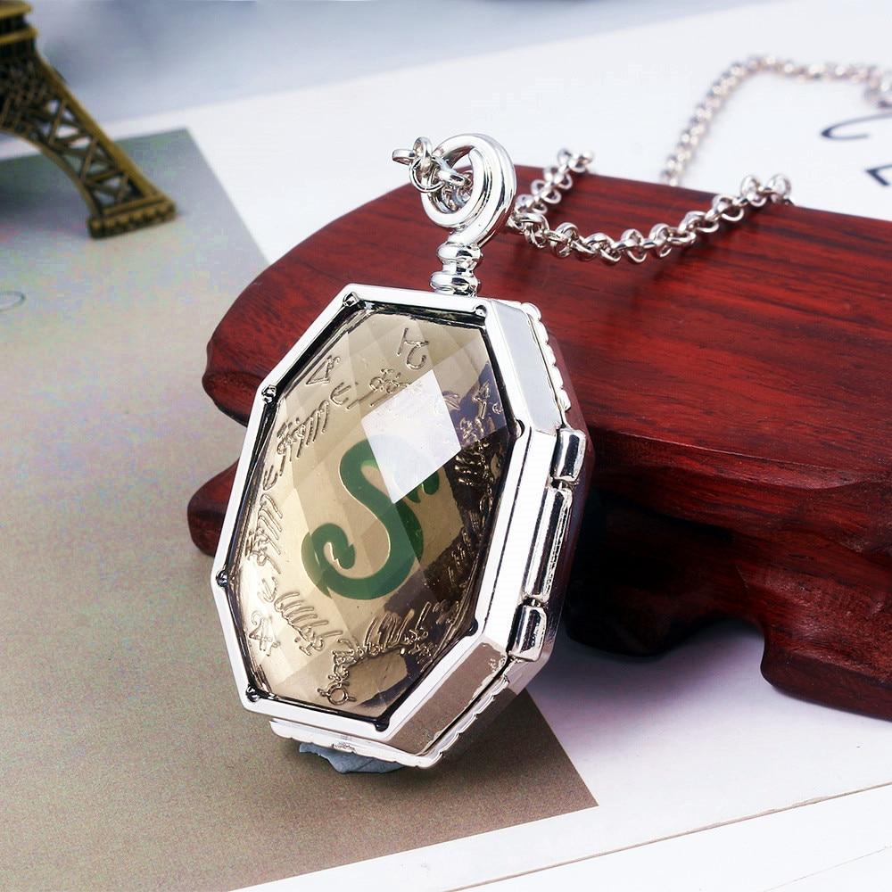 RJ HP Slytherin Horcrux Locket Snake Necklaces Deathly Hallows Sort Hat Time Turner Diadem Owl Men P
