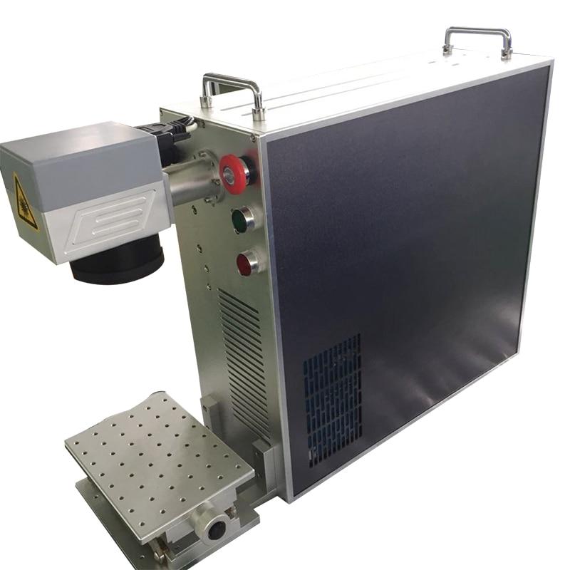 20W 30W 50W En Option Portable Machine de Gravure de Laser de Fiber Pour Le Métal Raycus Machine De Marquage De Fibre Optique À Laser LOGO Marquage