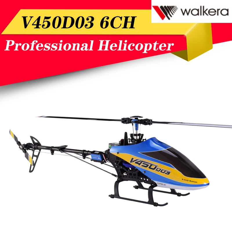 Hot Walkera 450 New V450D03 6CH 3D Fly 6-Axis Stabilization System Single Blade Professional Remote