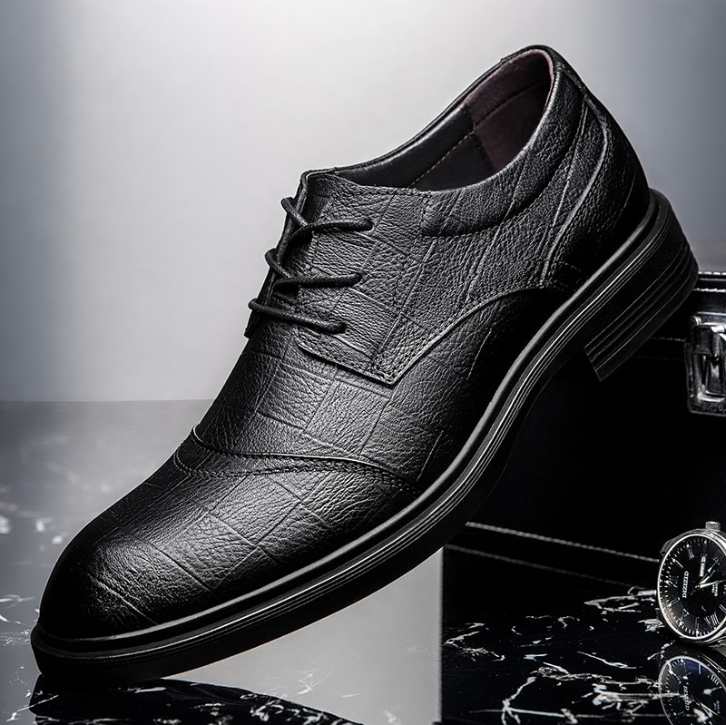 big size 48 Men Dress formal shoes fashion men's Handmade business shoes wedding party shoes Genuine Leather Lace-up Male shoes