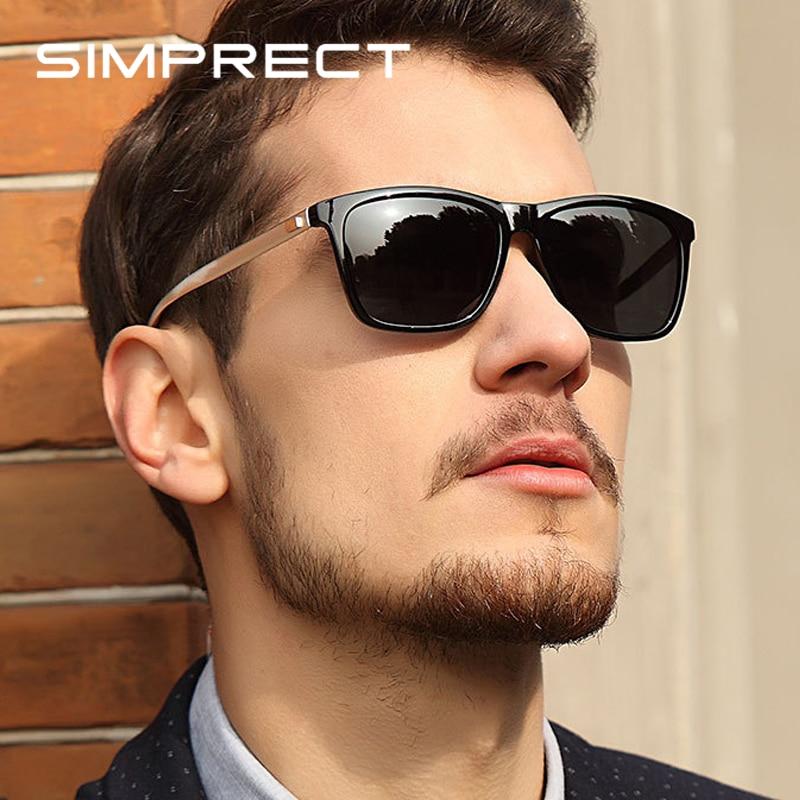 SIMPRECT Алюминий магний поляризационные очки солнечные мужские 2021 модные ретро зеркало квадратные очки солнечные женские бренд люкс дизайнер...