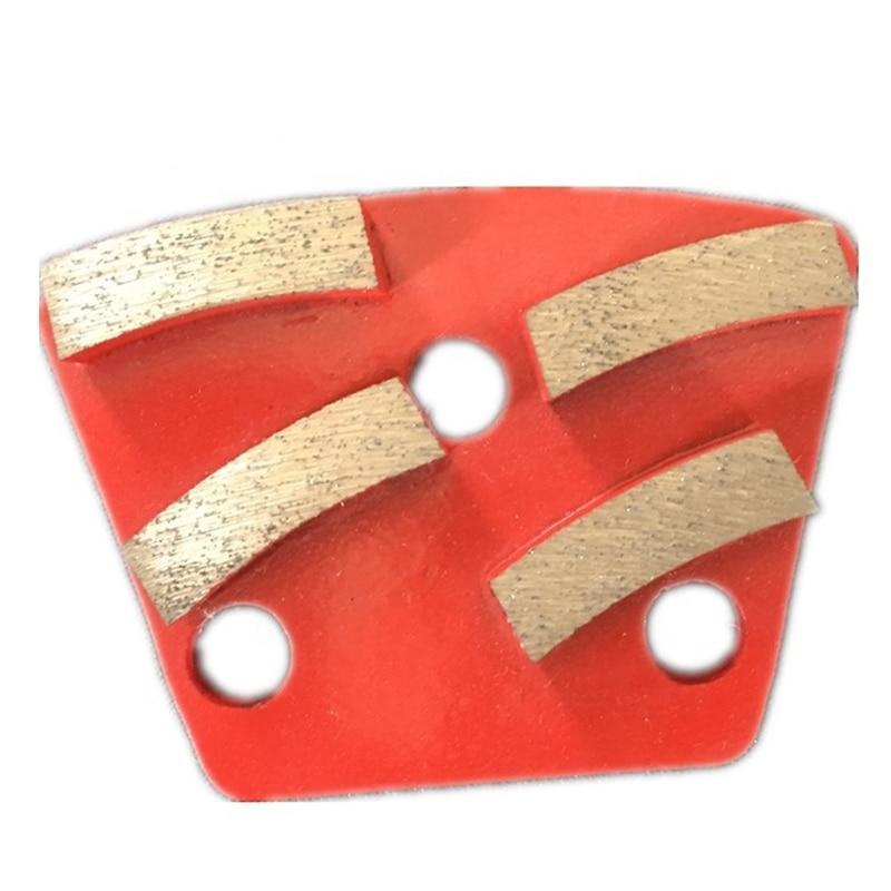 GT14, disco de pulido de hormigón de larga duración de diamante de Unión metálica con cuatro segmentos, suelo de terrazo, 12 Uds.