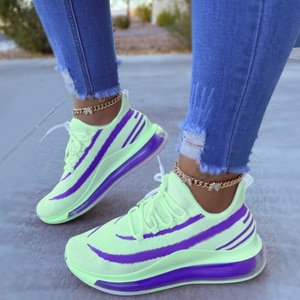 2021 Hot Sale New Women Mesh Sneakers Spring And Autumn Sports Shoes Light Breathable Flats For Girls Running Shoes Plus Size 43