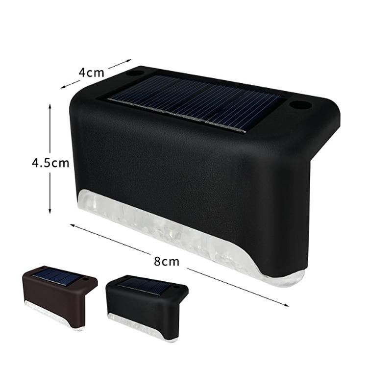 Светодиодный ночник на солнечной батарее, водонепроницаемая уличная лампа для лестницы, IP65, для сада, дорожек, двора, патио, лестницы, ступен...