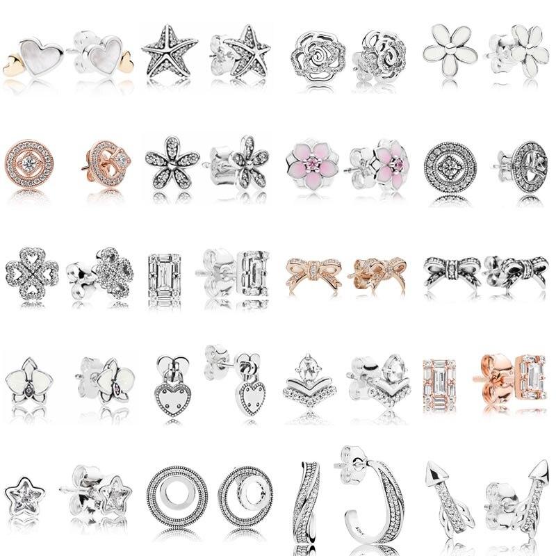 Женские-винтажные-серьги-Маргаритки-серьги-из-серебра-925-пробы-с-кристаллами-украшение-в-подарок