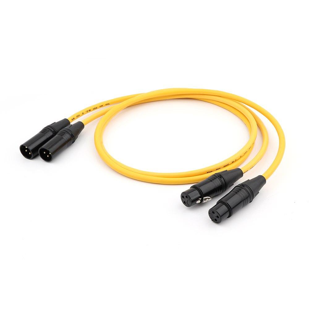 Par vdh m. c. d102 mkii xlr cabos de áudio híbrido xlr fêmea para macho cabo de interconexão de áudio