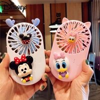 disney cartoon mini fan usb rechargeable outdoor portable pink and tender handheld portable silent fan