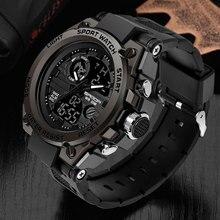 Marka sanda Wrist Watch mężczyźni zegarki wojskowe armii styl sportowy zegarek podwójny wyświetlacz zegarek męski dla mężczyzn zegar wodoodporne godziny