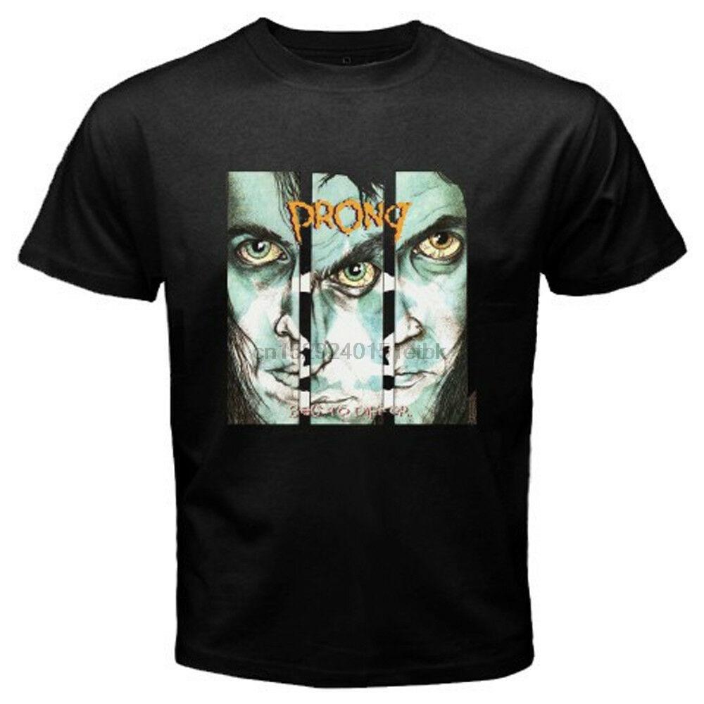 Prong pedir para diferir medo fábrica metal banda masculino preto camiseta tamanho S-3XL