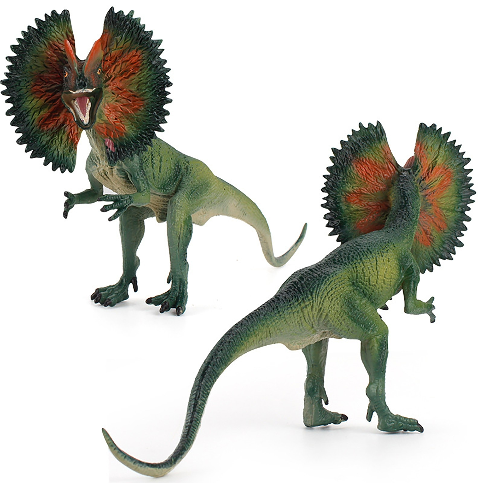 Realistic Dinosaur Model Lifelike Dilophosaurus Dinosaurs Figure Toy Simulation Dinosaurs Biological Toy Kid Educational Toys lifelike dinosaur model static solid mosasaurus dinosaur realistic figures perfect toys decoration for party favor kid toy gift