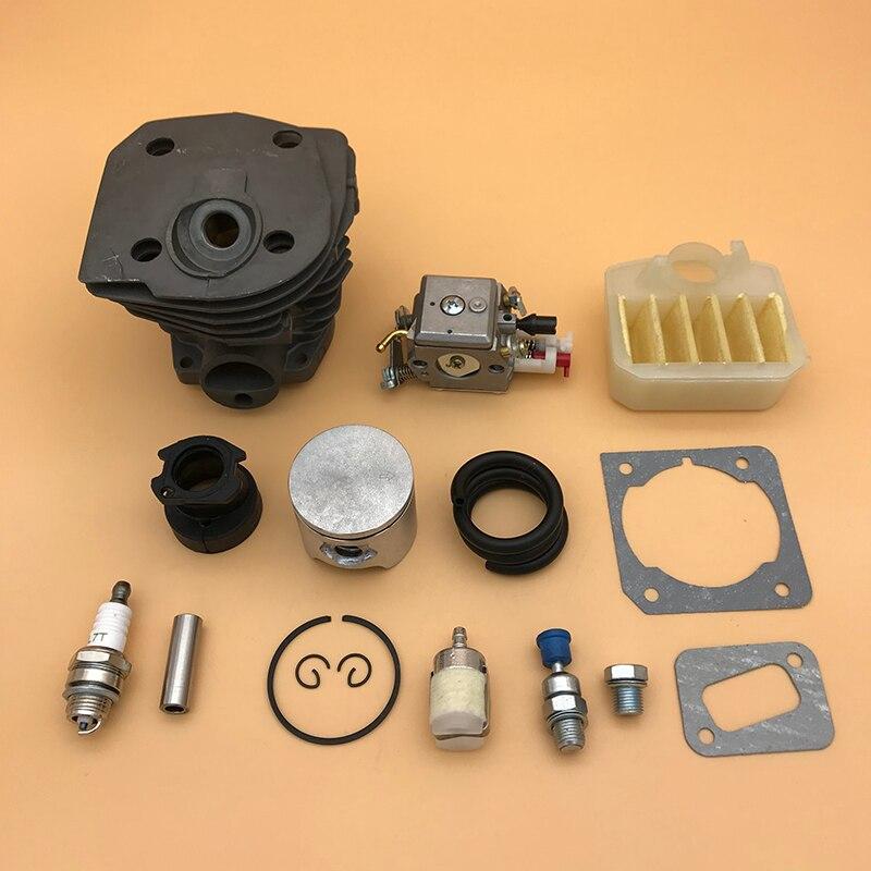 44 Mm Nikasil Cilinder Piston Air Fikter Carburateur Pakking Kit Voor Husqvarna 350 351 353 346 Xp 346XP Kettingzaag Motor motor Onderdelen