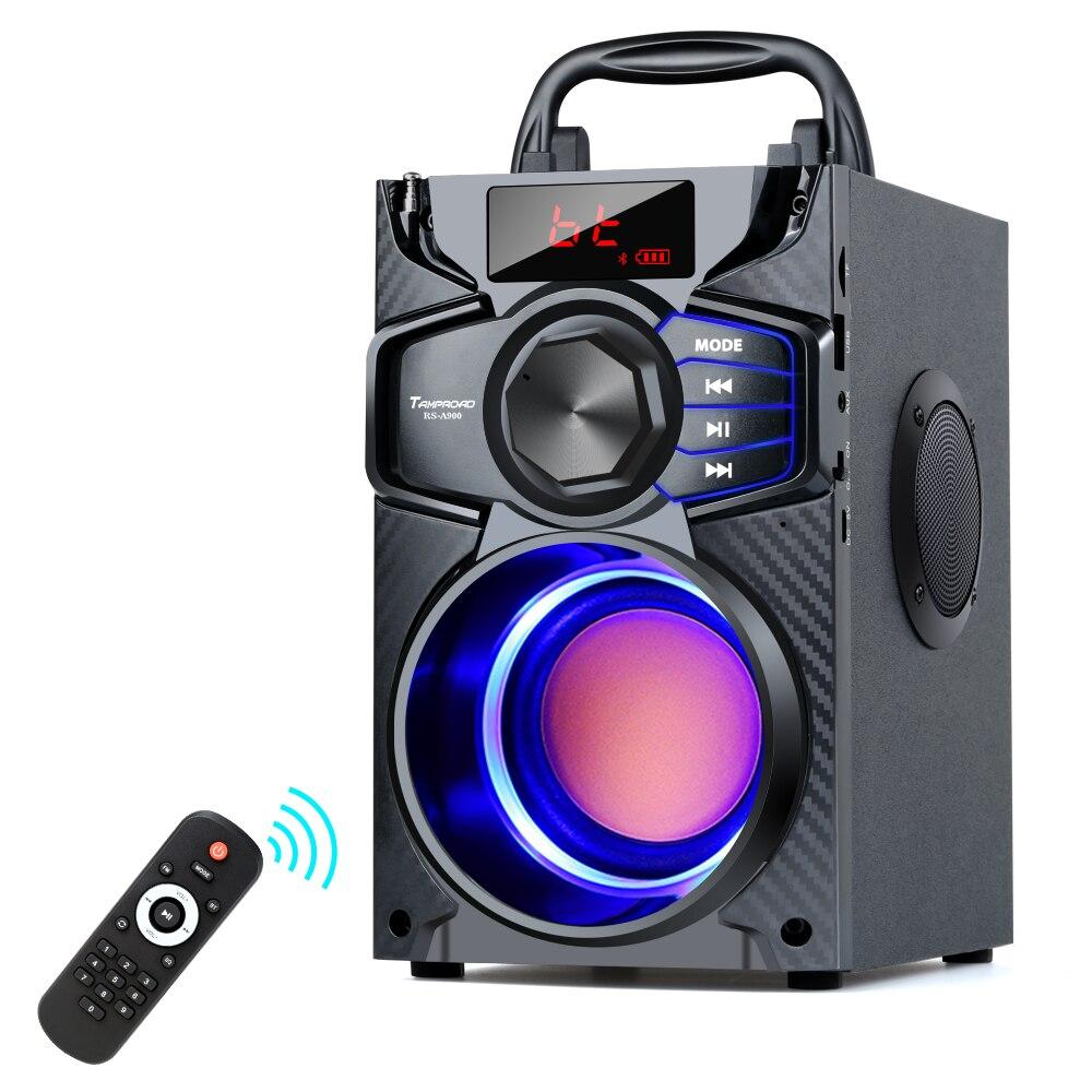 TOPROAD, altavoz portátil Bluetooth, Subwoofer estéreo inalámbrico, graves, altavoces grandes y potentes para fiestas, Boombox compatible con Radio FM AUX USB