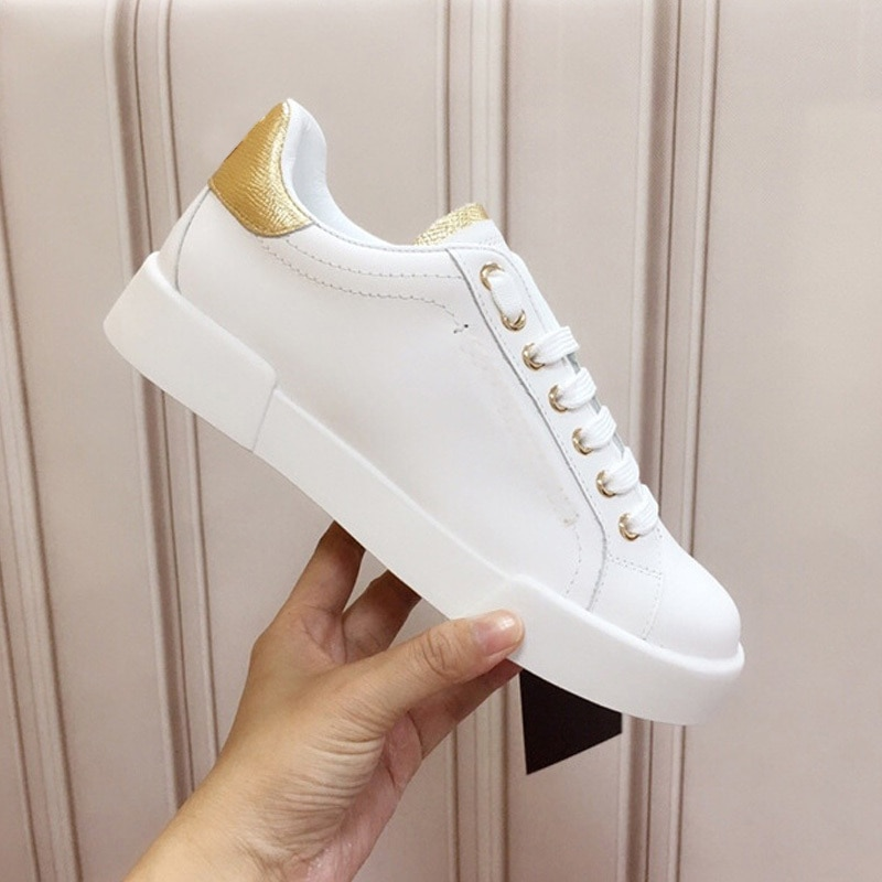 2021 Hot Flat Heel Sneakers Luxury Brand Women Shoes High Quality Designer Leather Fashion Sport Shoes Casual Vulcanized Shoes