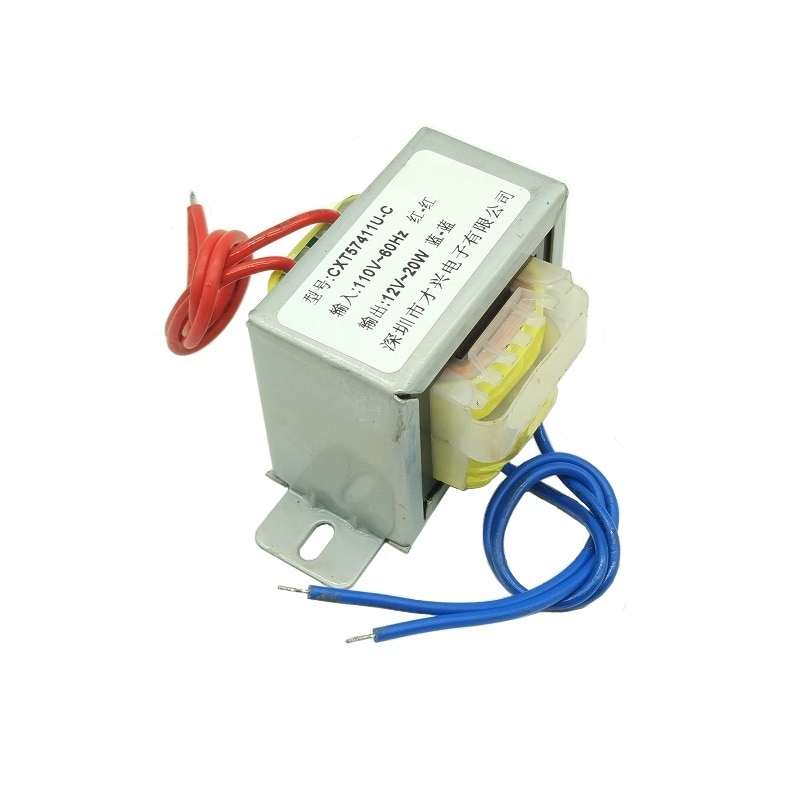 EI57 * 30 transformador de potencia 110V a 12V 1.67A 110V voltaje 20W 50-60HZ 20VA