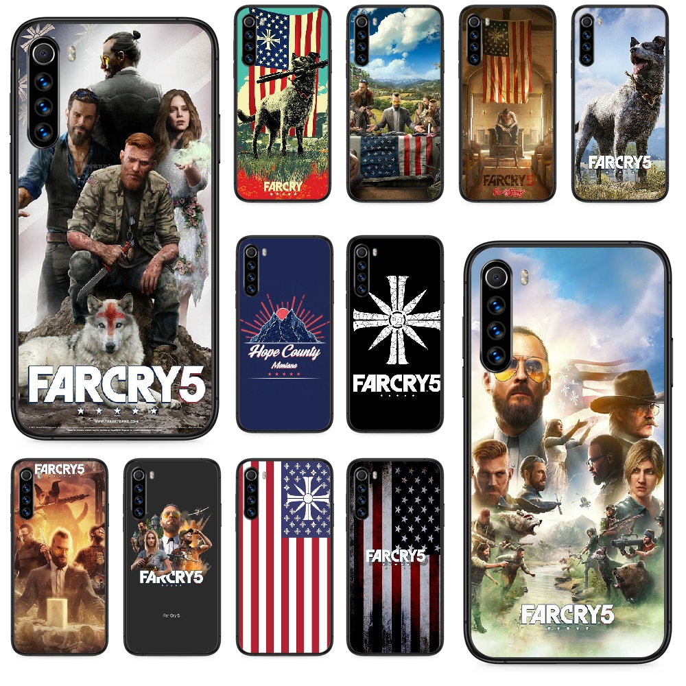 Far Cry 5 game Phone case For Xiaomi Redmi Note 4A 4X 5 6 6A 7 7A 8 8A 4 5 5A 8T Plus Pro black cell