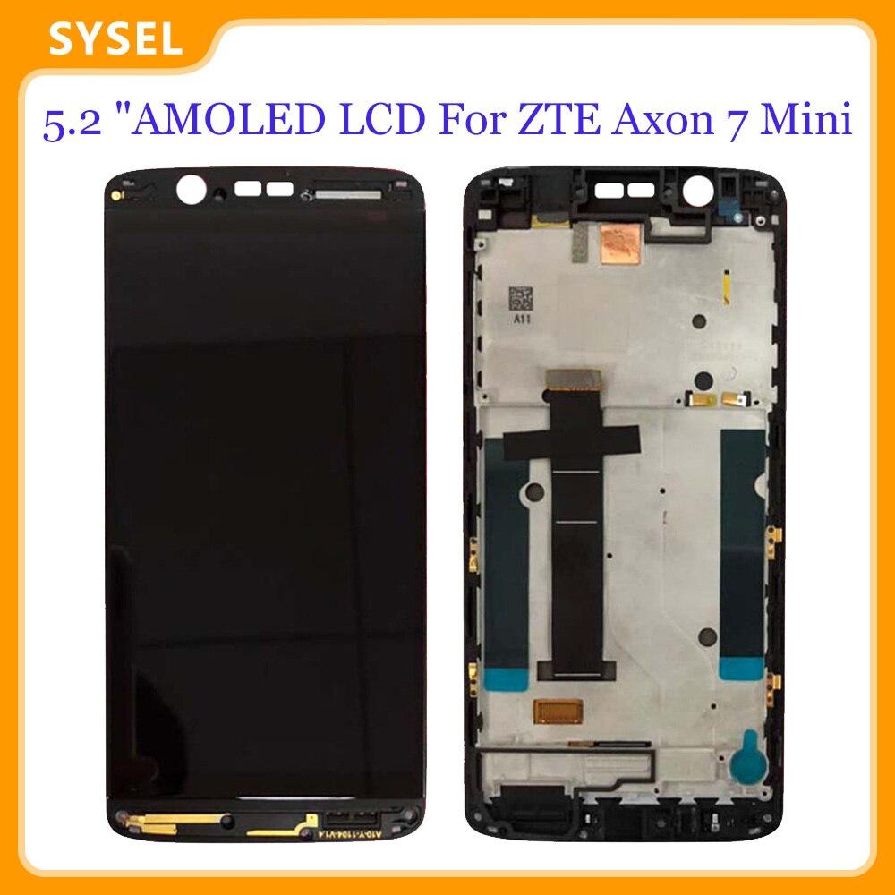 Pantalla Lcd + Marco, Panel de repuesto Original de 5,2 pulgadas para ZTE Axon 7 Mini B2017 B2017G Digitalizador de pantalla táctil