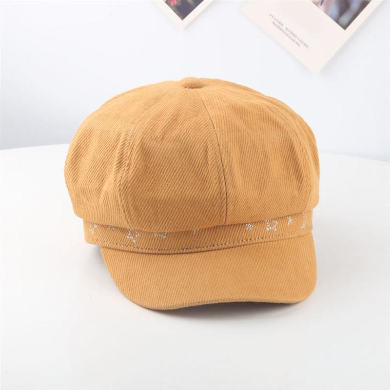 Sombrero de Sol de estilo japonés, Boina creativa, gorra elegante, gorra Octagonal única, sombrero Casual diario para niños (amarillo)