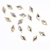 100pcs nail art strass crystal rhinestone gold metallic stud jewelry 3d strass nail tips art glitter strass accessory decoration