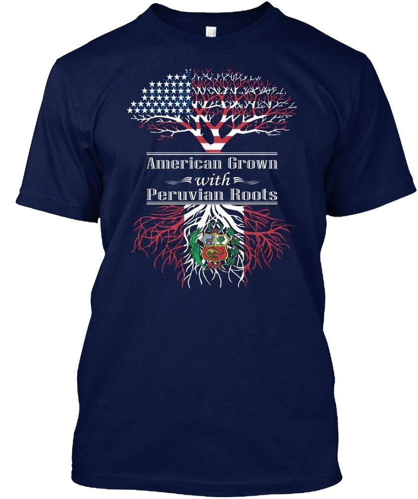 Camiseta para hombre, camiseta americana con raíces peruanas cultivadas para mujer