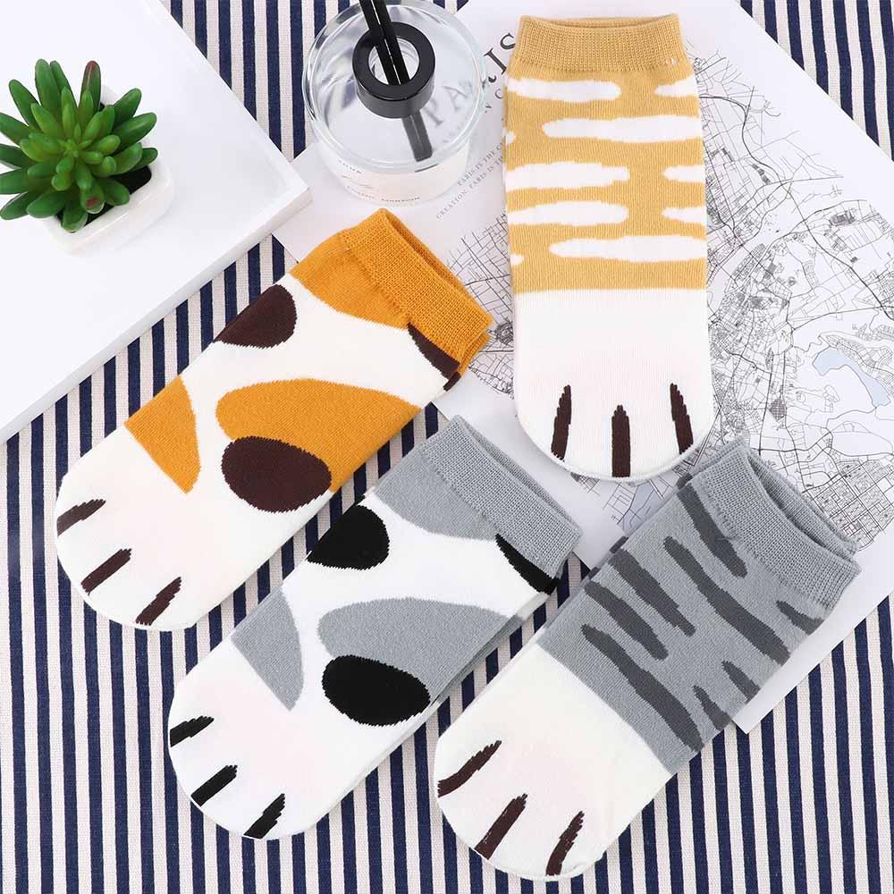 Calcetines de algodón de moda Kawaii lindos gatos Kitty garras tobillo calcetines cortos para mujeres niñas verano primavera dibujos animados divertidos calcetines de pata las mujeres