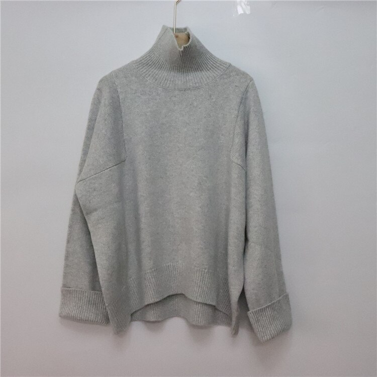 2020 Limited Microfiber Wool Computer Knitted New Woman Pullover Sweater Cashmere Heavy High Neck Bat Sleeve Casual Temperament enlarge