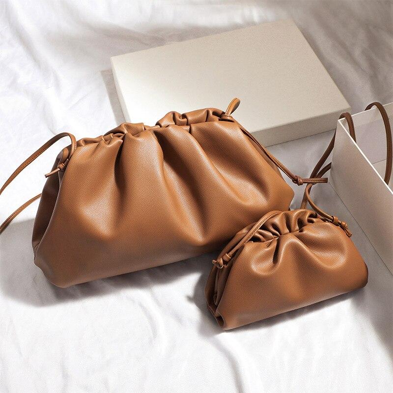 Pu cloud straddles makeup bag women's new handmade dumpling bag underarm bag fashion niche bag