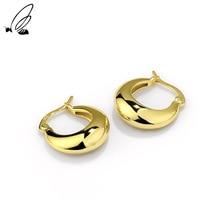 S'STEEL 925 Sterling Silver Hoop Earrings Gift For Women Temperament Simple Geometric Designer Circl