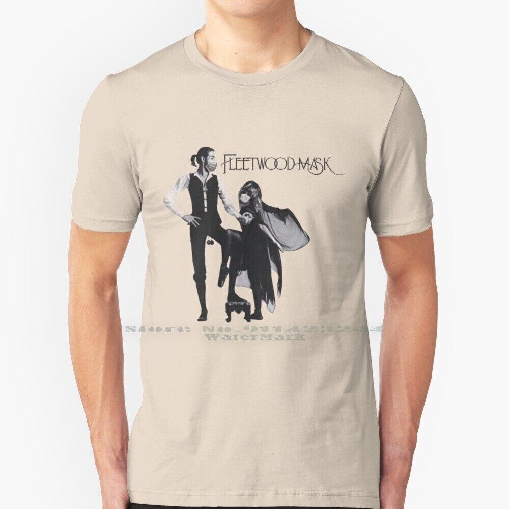 T-shirt en pur coton 100%, avec masque, steve Nicks, rueurs, jeu de cartes classique, drôle, musique, Lindsey, buckingram, mickey, Album, couverture de parodie