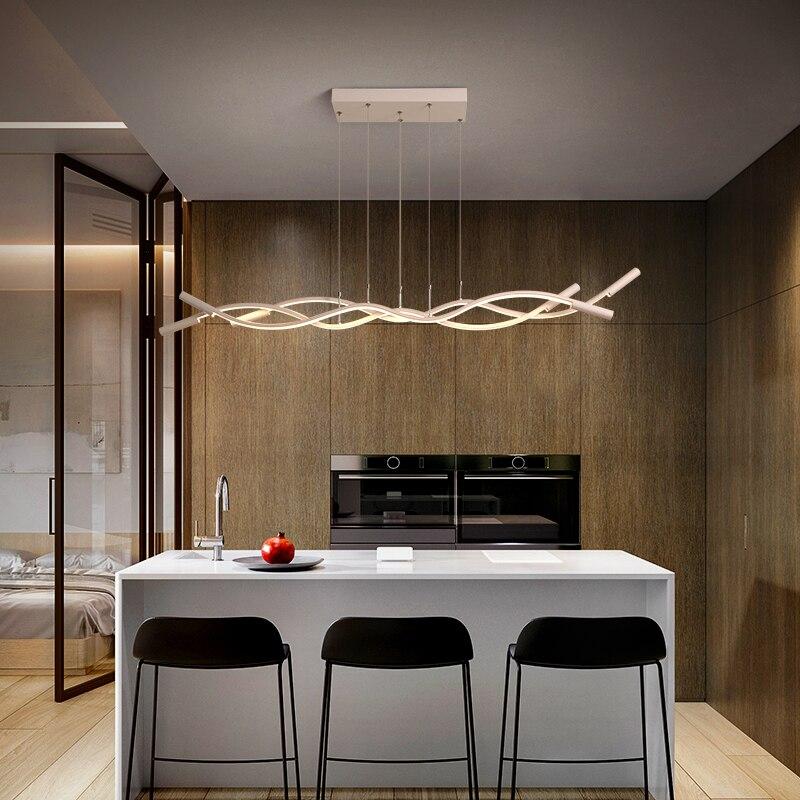 ثريا led على شكل موجة ، تصميم حديث ، إضاءة داخلية ، إضاءة سقف زخرفية ، مثالية لغرفة الطعام ، المطبخ ، المتجر ، 110-240 فولت