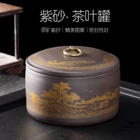 vintage tea box organizer ceramic tea caddy puer tea jar container tea bag storage box thee blikjes tea storage containers bc