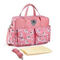 new fashion lightweight waterproof nylon shoulder mommy bag mother and baby cartoon animals large capacity outing diaper bags