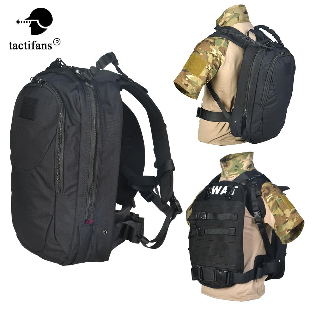 Tactical Ballistic Backpack Concealed Armor Rapid Response Pack Bulletproof Vest Laser Cut Molle Webbing Paintball Accessories