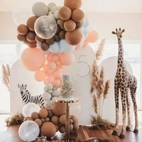 3050pcs 510inch coffee brown beige green balloons arch kit pastel wedding balloons decoration birhtday balloons party supplies