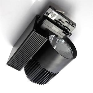 4wire 3phase 20W 30W 40W LED Track light aluminum Ceiling Rail Track lighting Spot Rail Spotlights Replace Halogen Lamps AC220V
