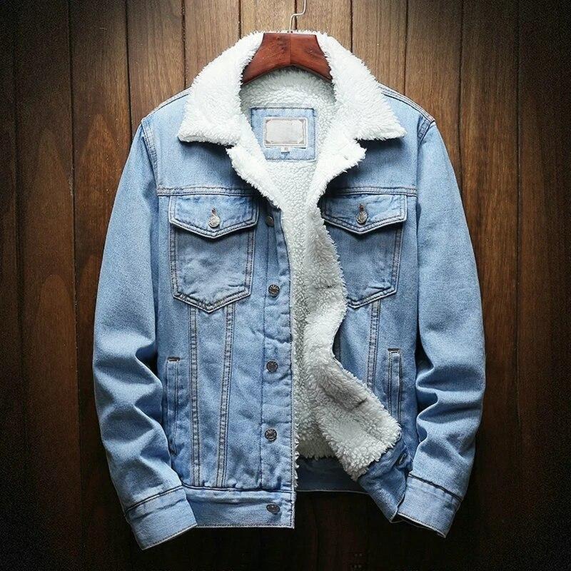 Прямая поставка, уличная одежда, мужская куртка и пальто, теплая флисовая джинсовая куртка 2020, зимняя модная мужская джинсовая куртка, Мужск...