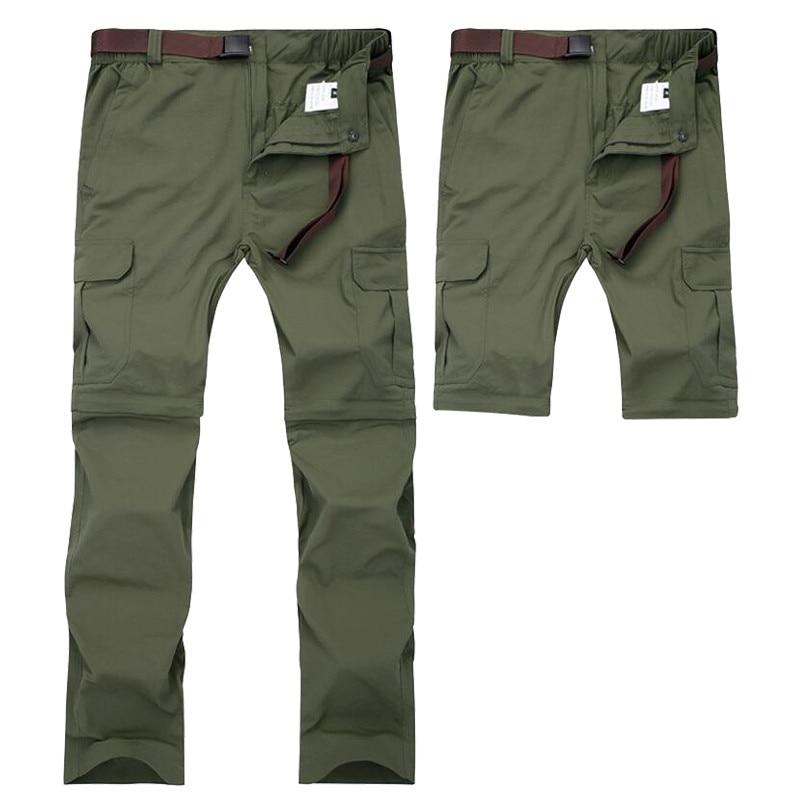 Мужские военные съемные брюки карго, летние быстросохнущие дышащие мужские брюки для бега, армейские карманы, водонепроницаемые тактическ...