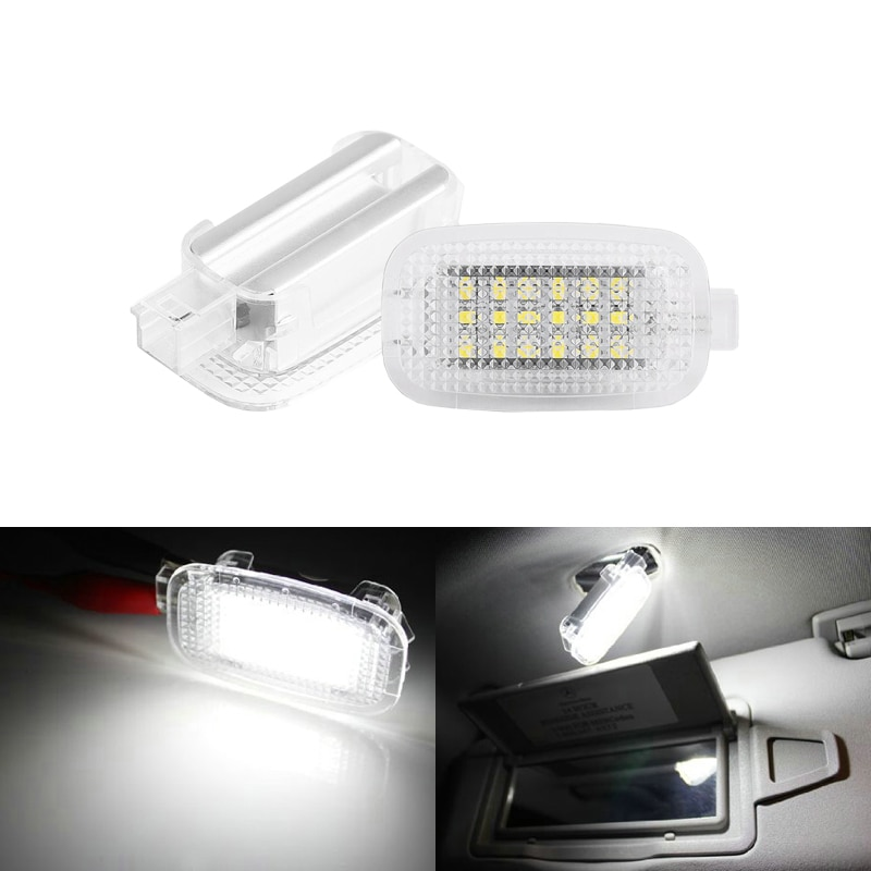 Белый светодиодный косметический светильник для дверей автомобиля, багажника, туалетного столика, зеркала, бардачка, светильник для Benz W204 ...
