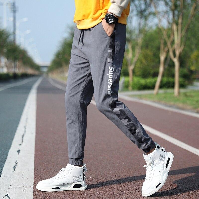 2021 уличная мужские спортивные брюки повседневные штаны с эластичной резинкой на талии модные брюки для малышей шаровары Джоггеры мужские б...