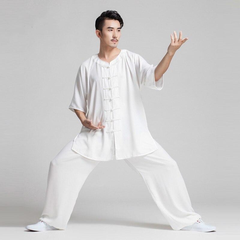 الملابس الصينية التقليدية للرجال الكونغفو موحدة الووشو الدعاوى النساء فنون الدفاع عن النفس Taichi ازياء الصباح ممارسة الملابس الرياضية