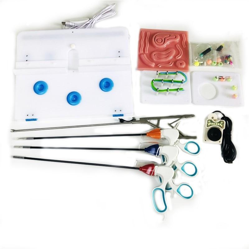 Simulación de laparoscopia, equipo de práctica de entrenamiento, simulación de cirugía, herramientas de enseñanza