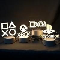 3d night light lamp gaming room desk setup decor table game console icon logo sensor light kids child bedside gift birthday xmas