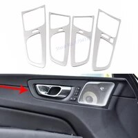 for volvo xc60 2018 2019 2020 inner door handle trim frame cover stainless steel car interior moulding accessories