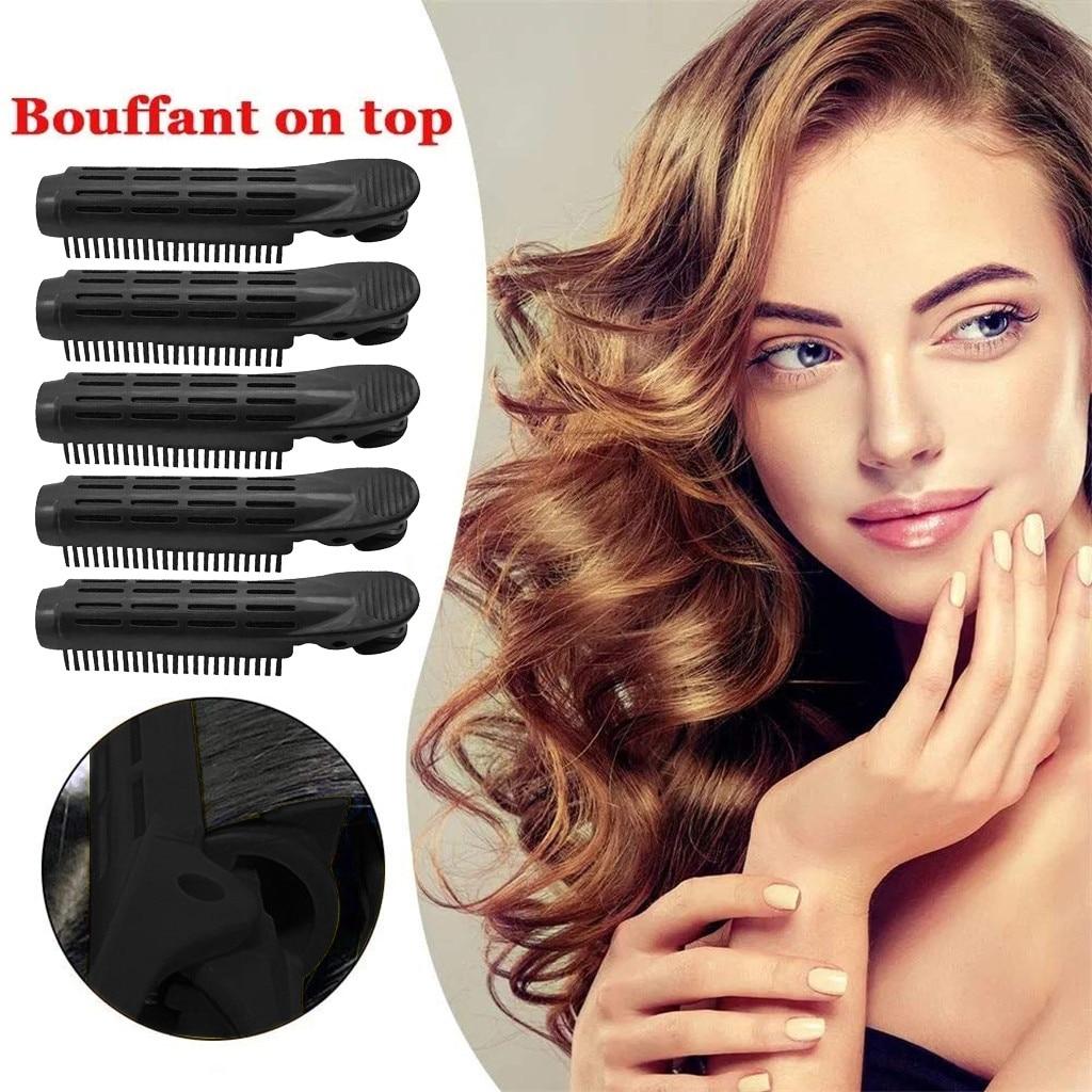 5 pçs modelador de cabelo clipe auto aperto volume raízes natural macio diy cabelo clipe de modelador de cabelo dormir leve encaracolado grampos de cabelo stylin