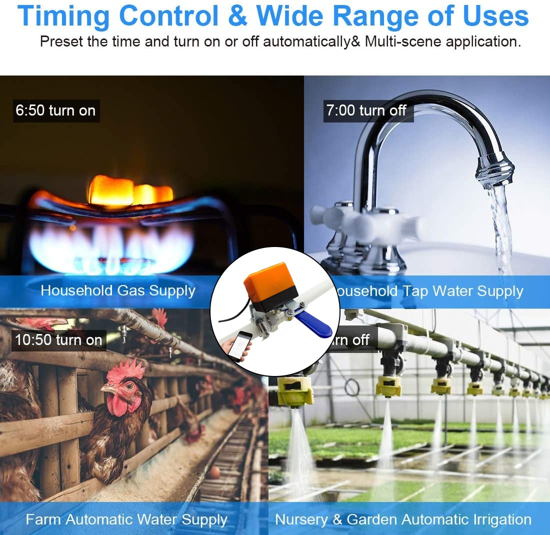 new design for water and gas Home Automation Wireless Tuya WiFi Control Smart Water Valve enlarge