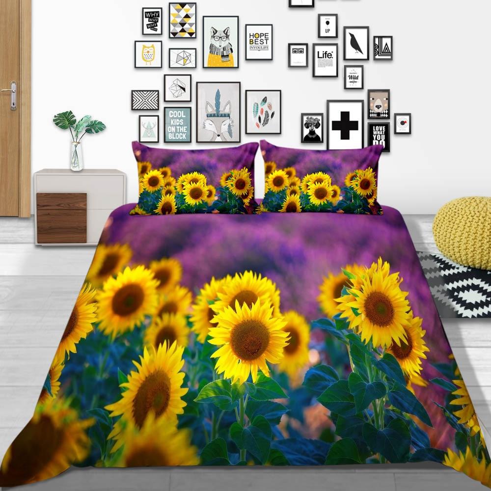 Thumbed غريب الأرجواني طقم سرير الشمس الكلاسيكية حاف الغطاء واحد الملك الملكة التوأم كامل مزدوج سرير مريح مجموعة