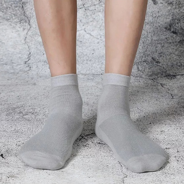 5 Pairs Lot Spring Summer Men's Cotton Socks Soft Breathable Dress Shoes Clothes For Man Compression Crew Socks Size 36-43 8