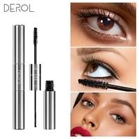 derol 3d dual purpose quick drying mascara eyelash long term thick lengthen curling sexy eye makeup waterproof mascara